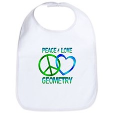 Peace Love Geometry Bib