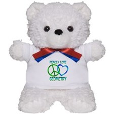 Peace Love Geometry Teddy Bear