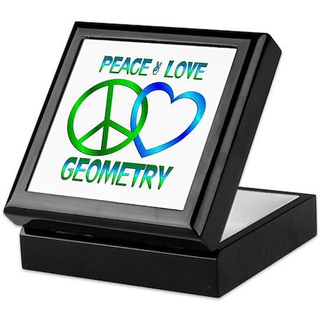 Peace Love Geometry Keepsake Box
