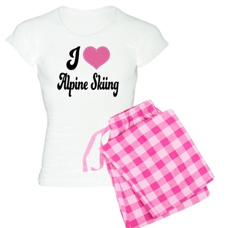 I Love Alpine Skiing Women's Light Pajamas