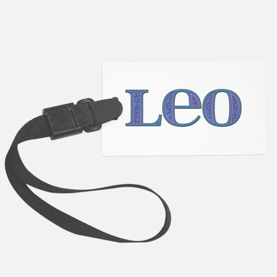 Leo Blue Glass Luggage Tag