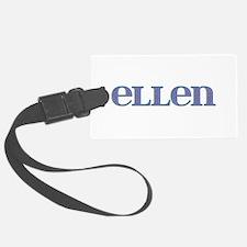 Ellen Blue Glass Luggage Tag