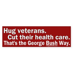 Hug veterans, cut care Bumper Bumper Sticker