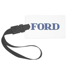 Ford Blue Glass Luggage Tag