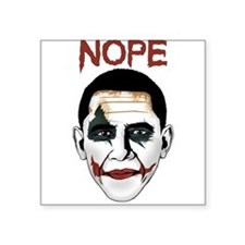 "Obama Joker Square Sticker 3"" x 3"""