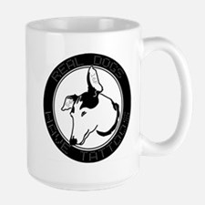 Real Dogs Have Tattoos Large Mug