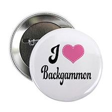 """I Love Backgammon 2.25"""" Button"""