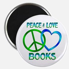 "Peace Love Books 2.25"" Magnet (10 pack)"