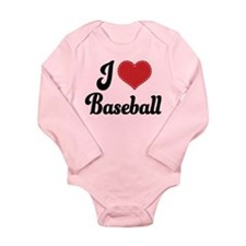 I Love Baseball Long Sleeve Infant Bodysuit