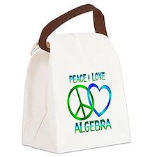 Peace Love Algebra Canvas Lunch Bag