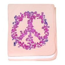 Dazzled Flower Peace baby blanket