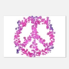 Dazzled Flower Peace Postcards (Package of 8)
