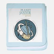 Planet Janitor Logo baby blanket