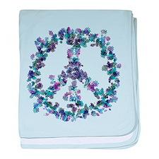 Harmony Flower Peace baby blanket