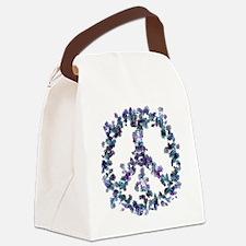 Harmony Flower Peace Canvas Lunch Bag