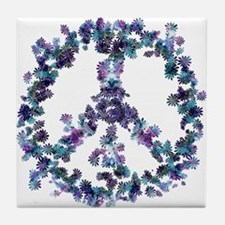 Harmony Flower Peace Tile Coaster