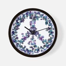 Harmony Flower Peace Wall Clock