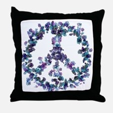 Harmony Flower Peace Throw Pillow