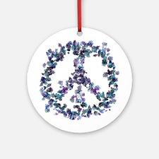 Harmony Flower Peace Ornament (Round)