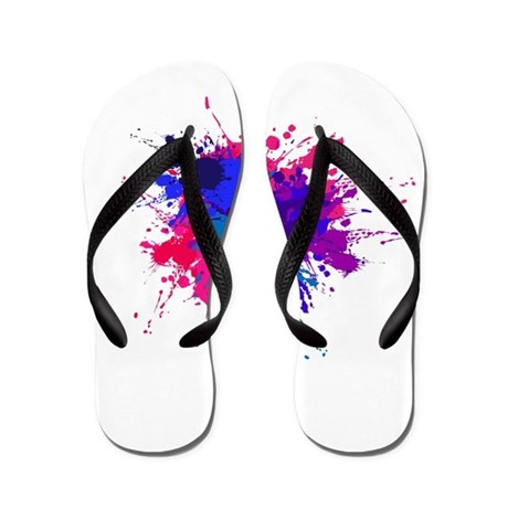 Bi Paint Splash Flip Flops By Bythebi