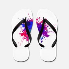 Bi Paint Splash Flip Flops