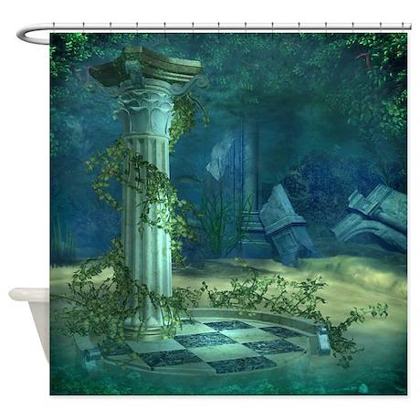 Underwater Ruins Shower Curtain