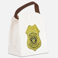 retired law enf officer.png Canvas Lunch Bag