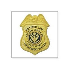 retired law enf officer.png Square Sticker 3""
