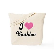 I Love Biathlon Tote Bag