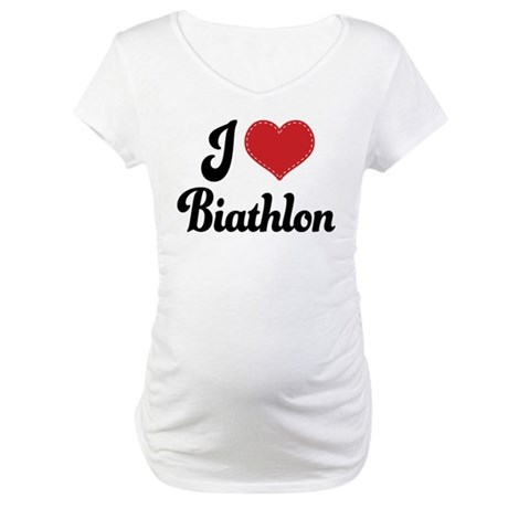 I Love Biathlon Maternity T-Shirt