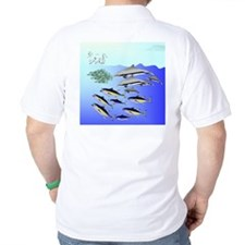 Tuna Birds Dolphins attack sardines T-Shirt