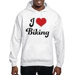 I Love Biking Hooded Sweatshirt