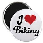 I Love Biking Magnet