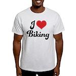 I Love Biking Light T-Shirt