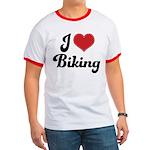 I Love Biking Ringer T