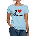 I Love Biking Women's Light T-Shirt