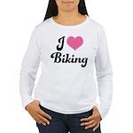 I Love Biking Women's Long Sleeve T-Shirt