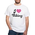 I Love Biking White T-Shirt