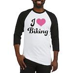 I Love Biking Baseball Jersey