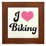 I Love Biking Framed Tile