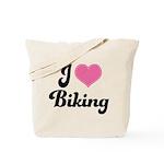 I Love Biking Tote Bag