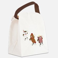 soda hotdog popcorn.png Canvas Lunch Bag
