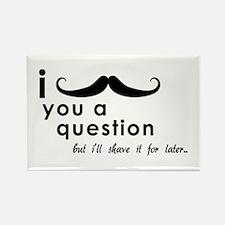 Cute Mustache november Rectangle Magnet