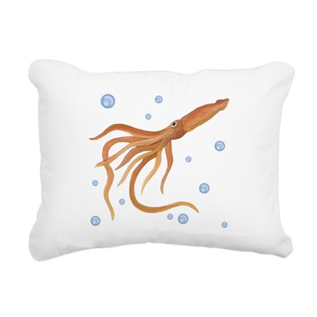 Squid Rectangular Canvas Pillow