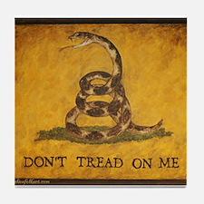 www.aliesfolkart.com Gadsden Flag Tile Coaster