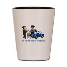But Cops Love Donuts Shot Glass