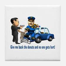 But Cops Love Donuts Tile Coaster