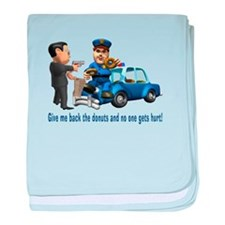 But Cops Love Donuts baby blanket