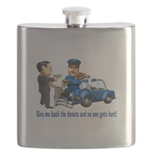 But Cops Love Donuts Flask