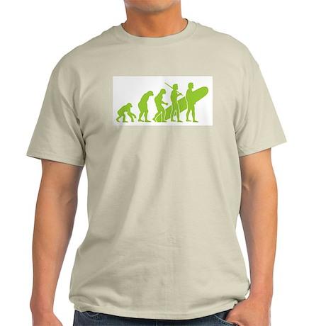 Evolution of Surfing Design Light T-Shirt